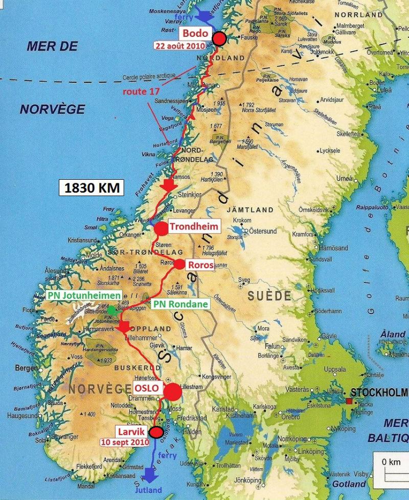 carte Norvège 2010