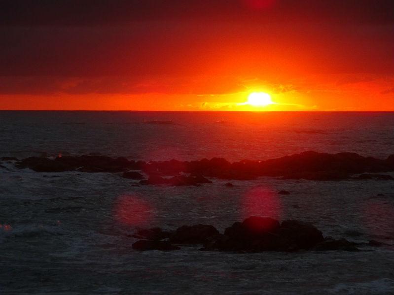 plage de Paracou coucher de soleil