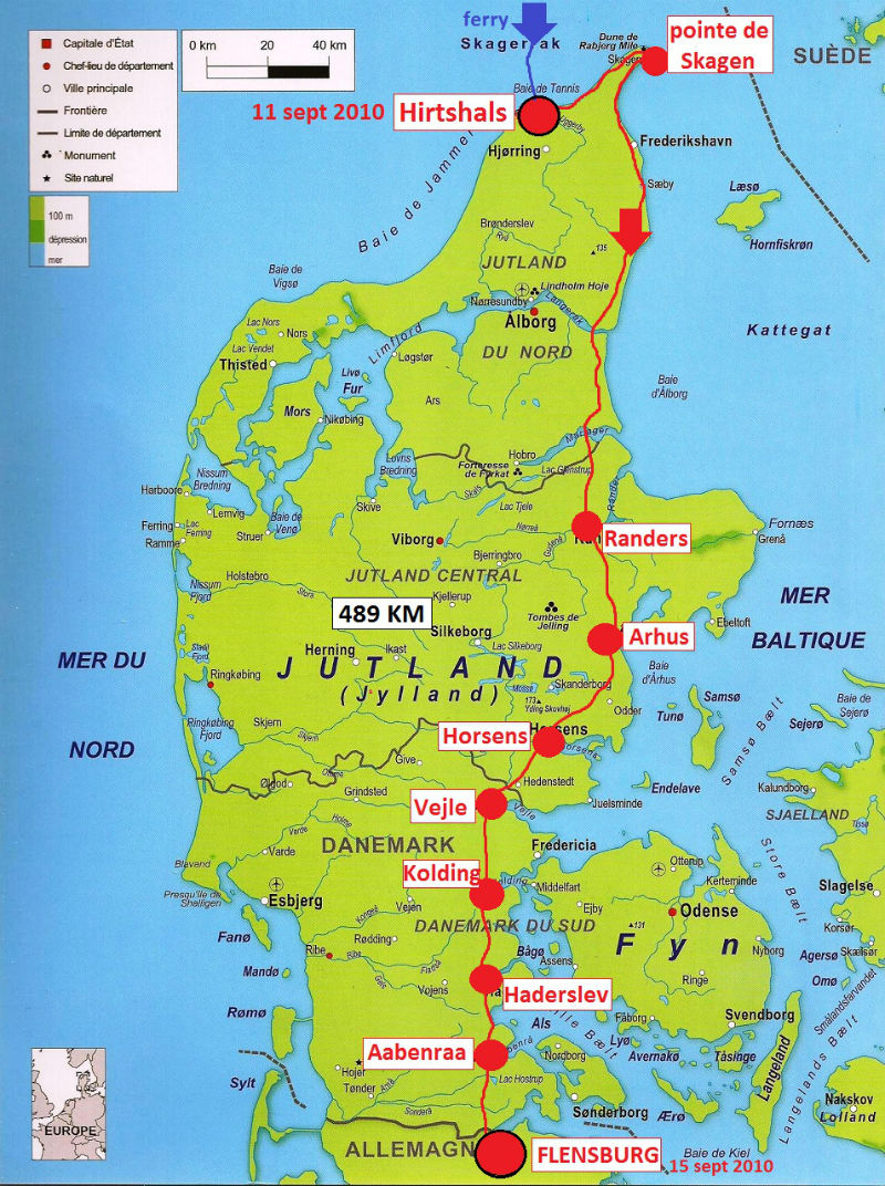carte Danemark 2010