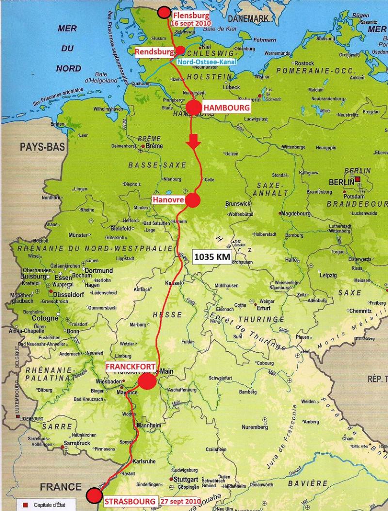 carte Allemagne 2010