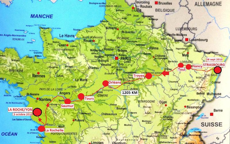 carte France retour