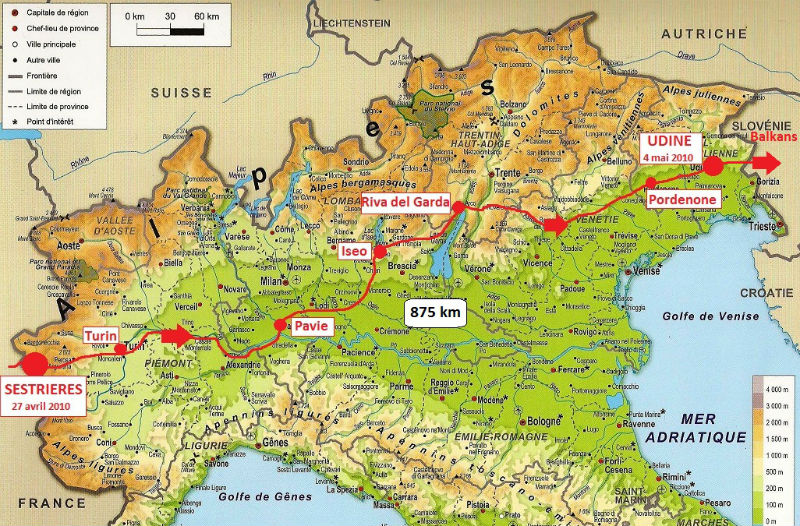 carte Italie 2010