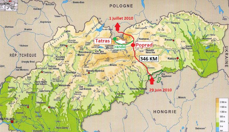 carte Slovaquie 2010
