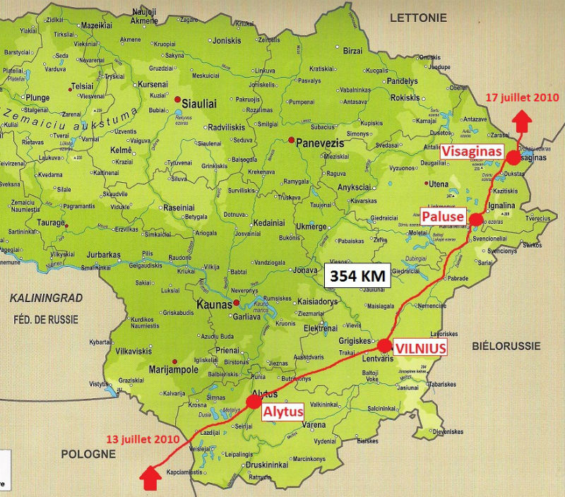 carte Lituanie 2010