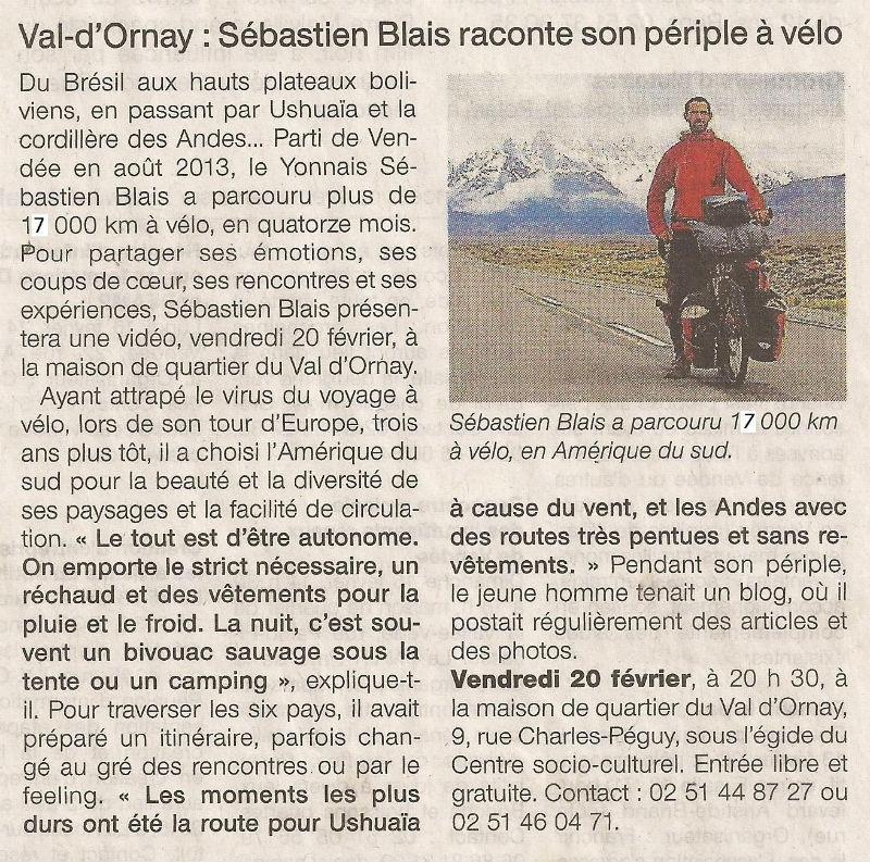 article Ouest France sur la soirée film