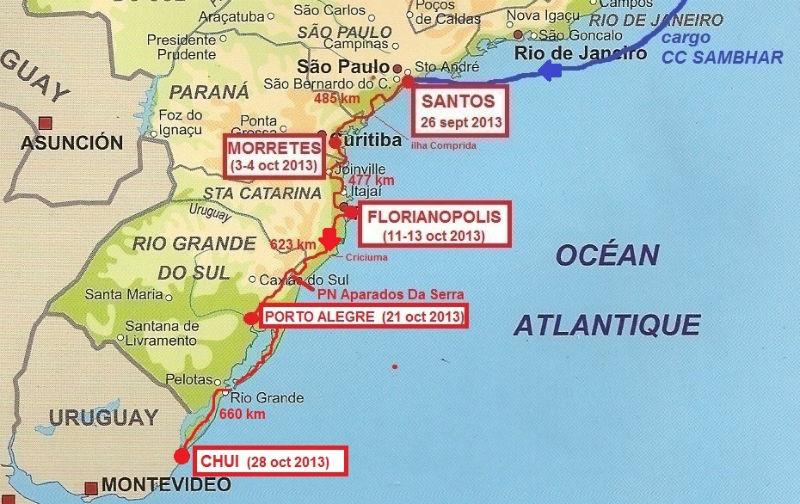 carte sud Brésil