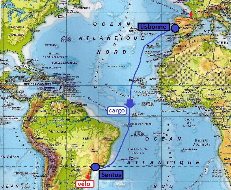 carte Atlantique cargo