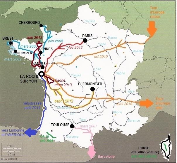 carte trajets France