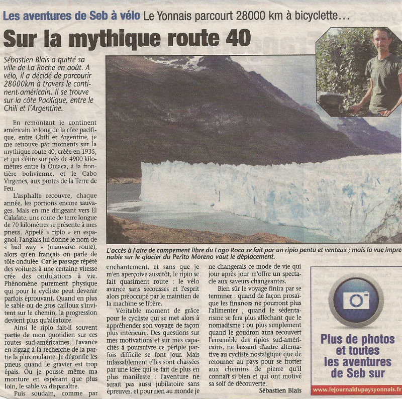 article Pays Yonnais route 40