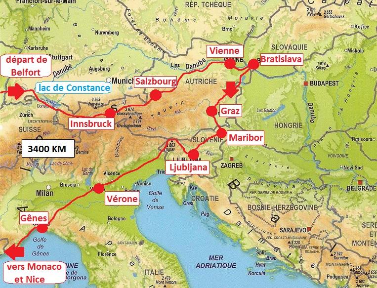 itinéraire Autriche-Slovénie
