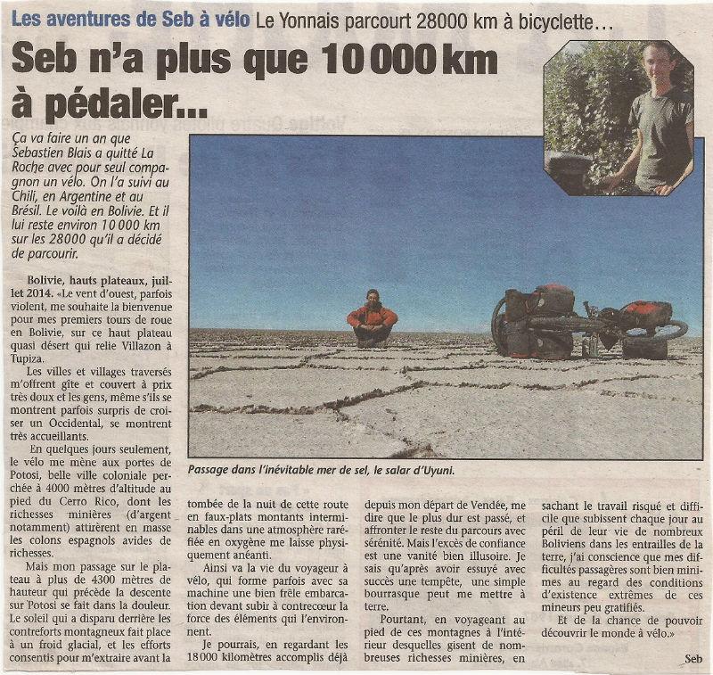 article Pays Yonnais hauts plateaux Bolivie