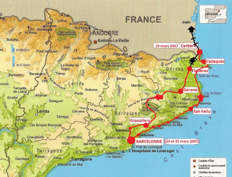 carte Catalogne