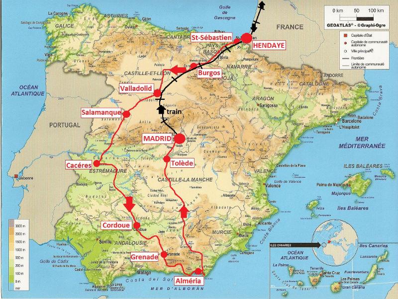 itinéraire Espagne