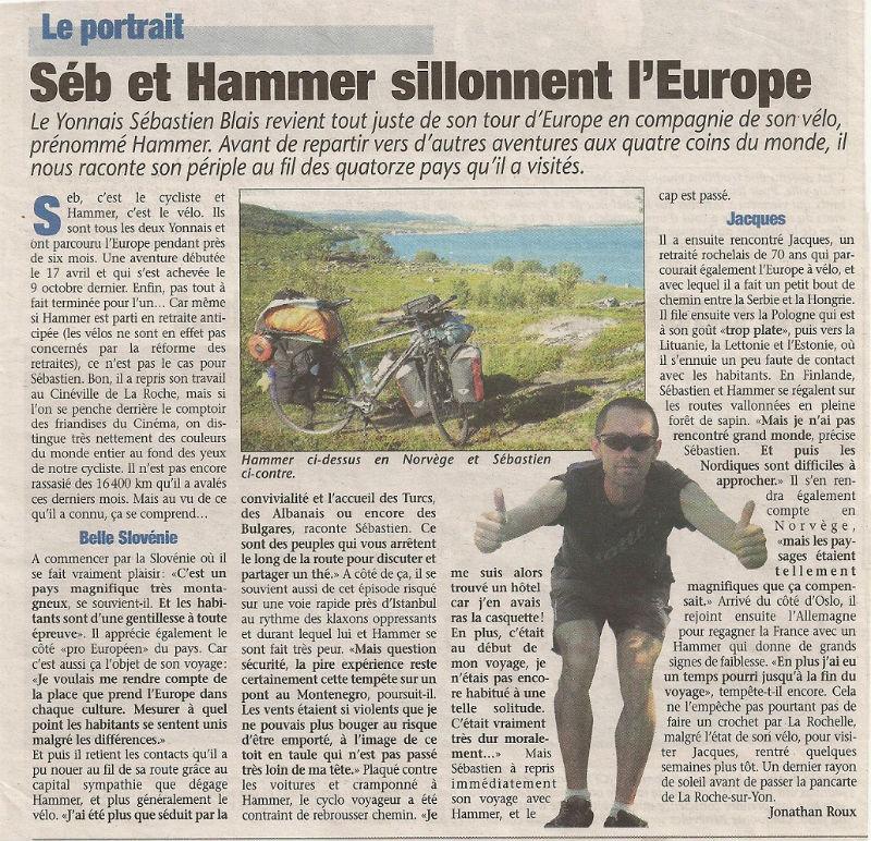 article Pays yonnais tour d`Europe