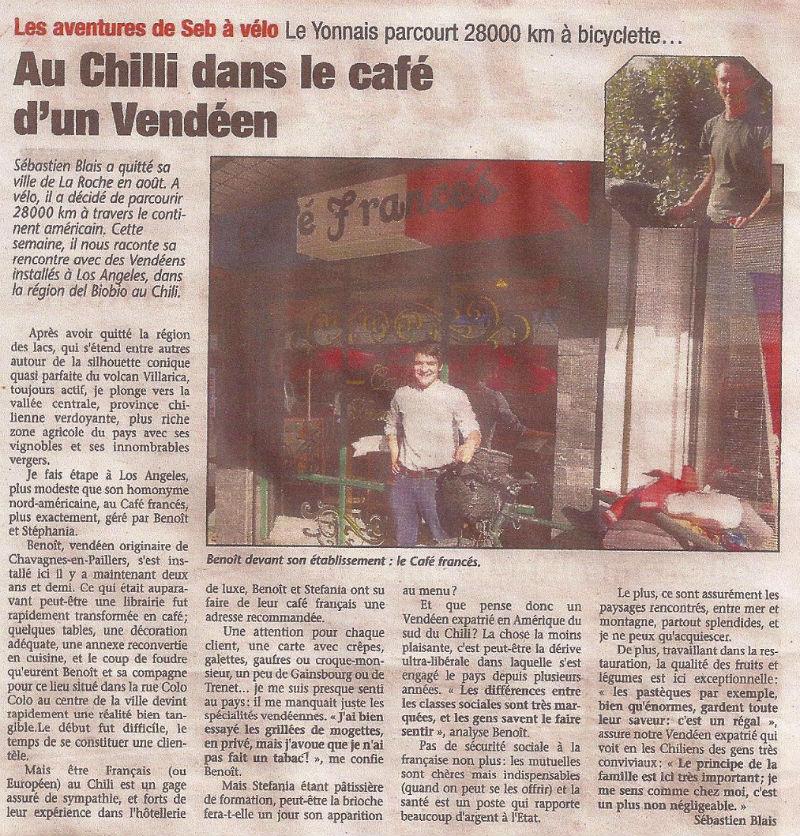 article Pays Yonnais café francès