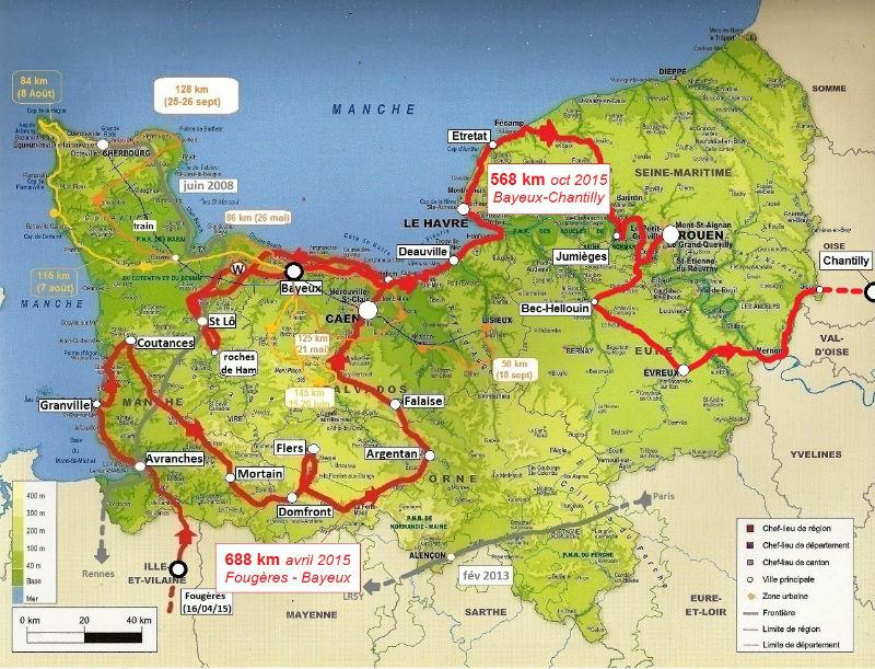 carte Normandie