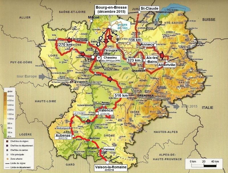 carte Rhône-Alpes