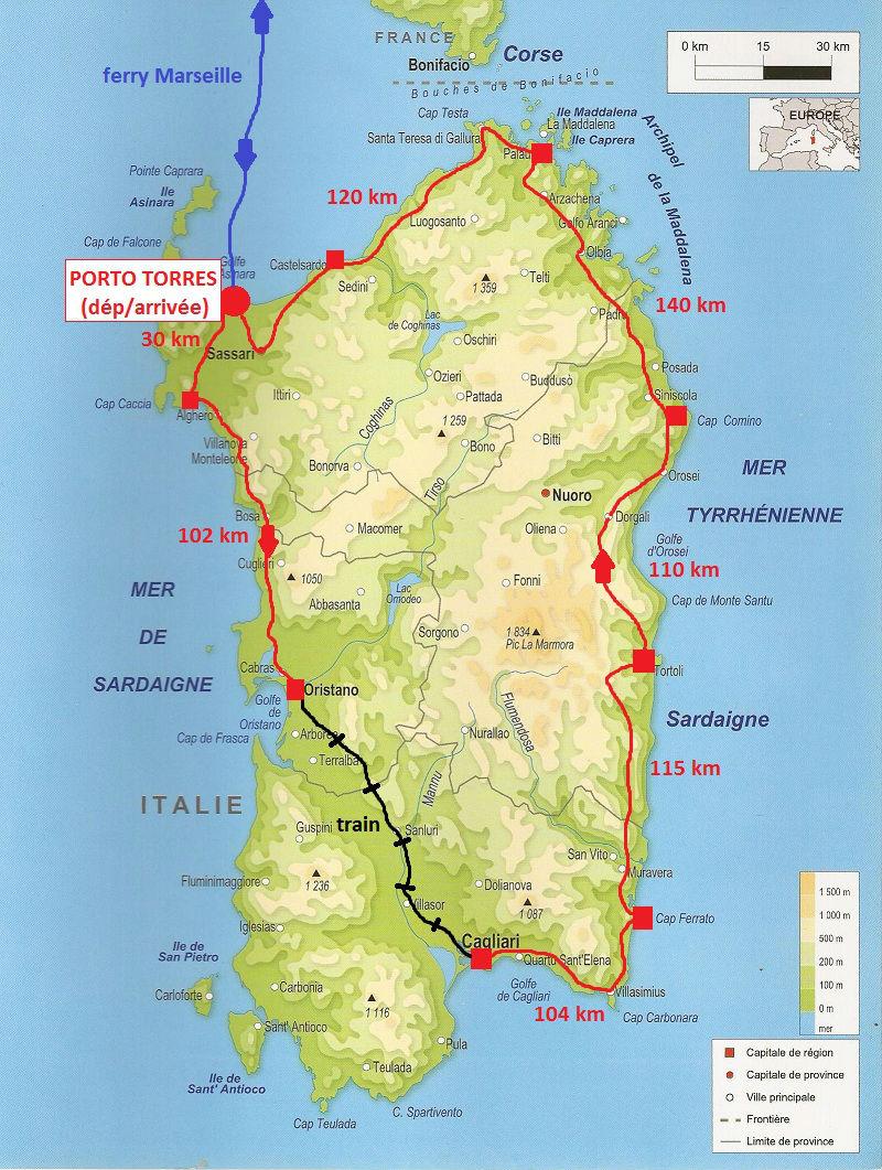 itinéraire Sardaigne