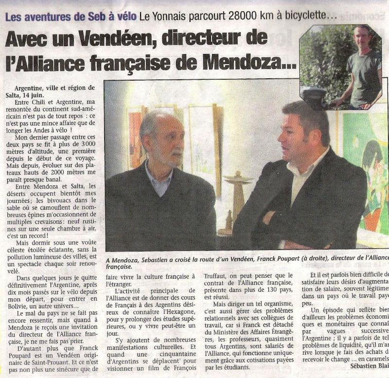 article Pays Yonnais Franck Poupard