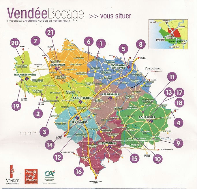 sites de la Vendée bocage
